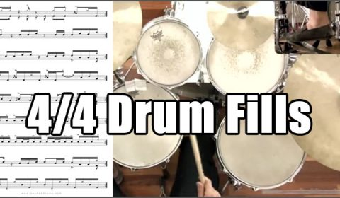 Drum Fills For 4/4 Rock & Funk