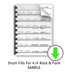 Drum Fills For 4-4 Rock & Funk SAMPLE