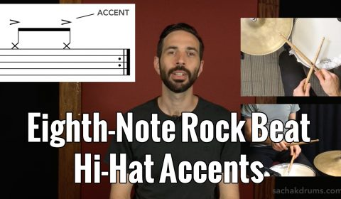 Eighth-Note Rock Beat Hi-Hat Accents