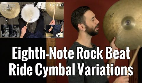 Eighth-Note Rock Beat Ride Cymbal Variations