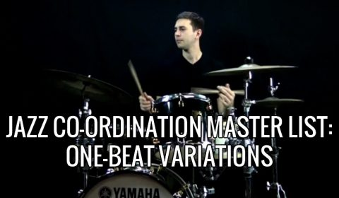 Jazz Coordination One Beat Combinations