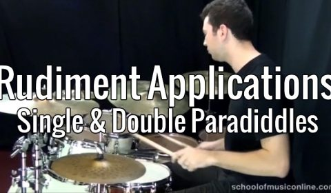 Rudiment Applications – Single & Double Paradiddles