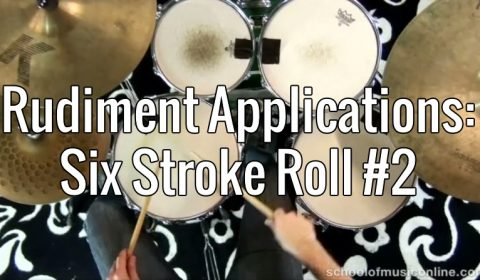 Rudiment Applications – Six Stroke Roll 2