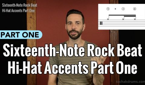 Sixteenth-Note Rock Beat Hi-Hat Accents Part 1