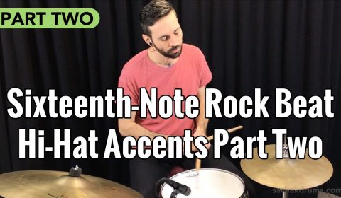 Sixteenth-Note Rock Beat Hi-Hat Accents Part 2