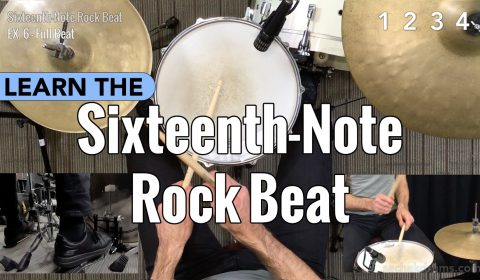 Sixteenth-Note Rock Beat
